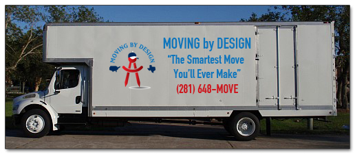 Moving by Design truck for residential or commercial movers