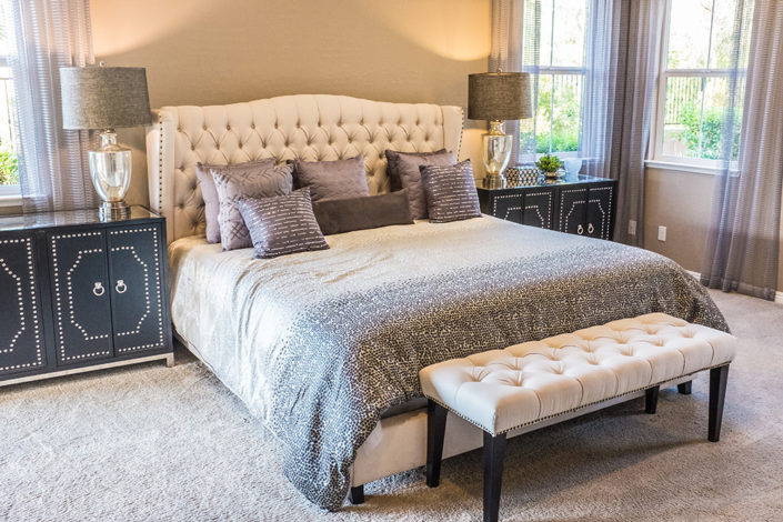 Specialty Mattress with Custom Frame and Headboard