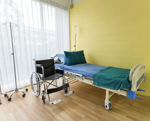 Hospital bed in Home